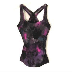 Lucy galaxy print cross back yoga tank XXS…